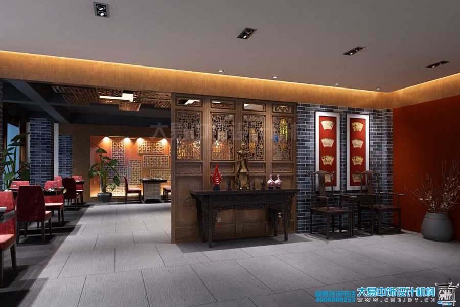 北京西三环紫竹私人茶社中式设计效果图