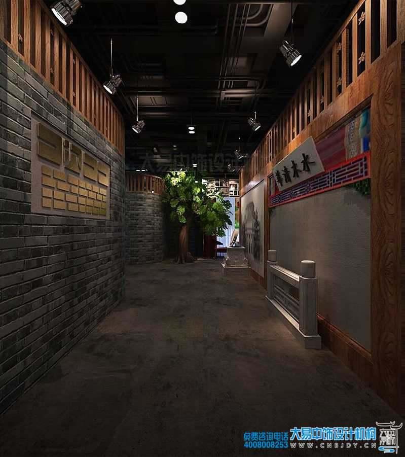清华园主题餐厅中式设计装修 古今并用传递人文日新
