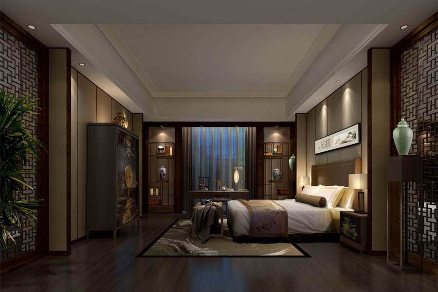 现代中式设计酒店装修效果图