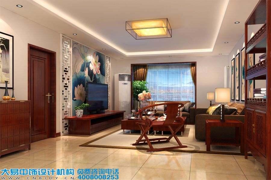 北京东坝新中式风格住宅装修效果图