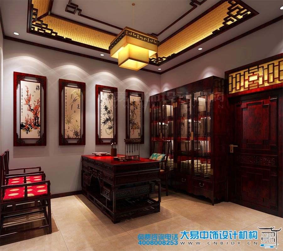 北京西四环中式办公室装修效果图