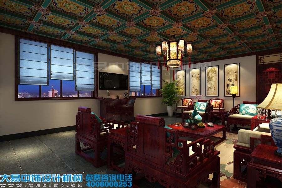雍和宫四合院设计会馆中式装修效果图