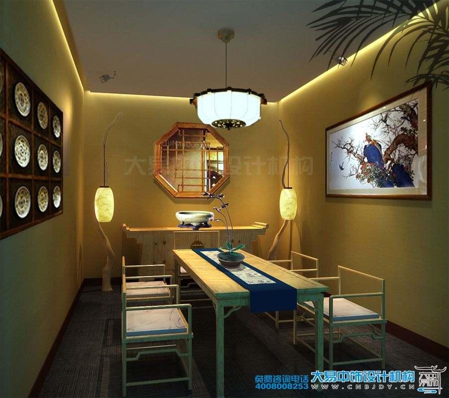 北京古树坊茶楼中式装修室内实景效果图