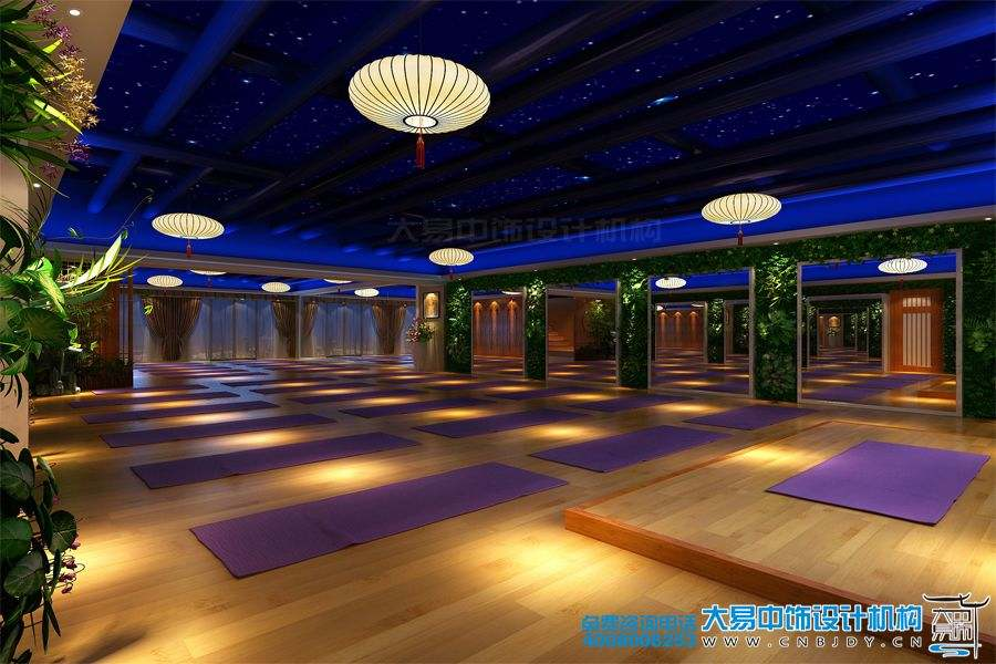 北京瑜伽会馆中式装修效果图