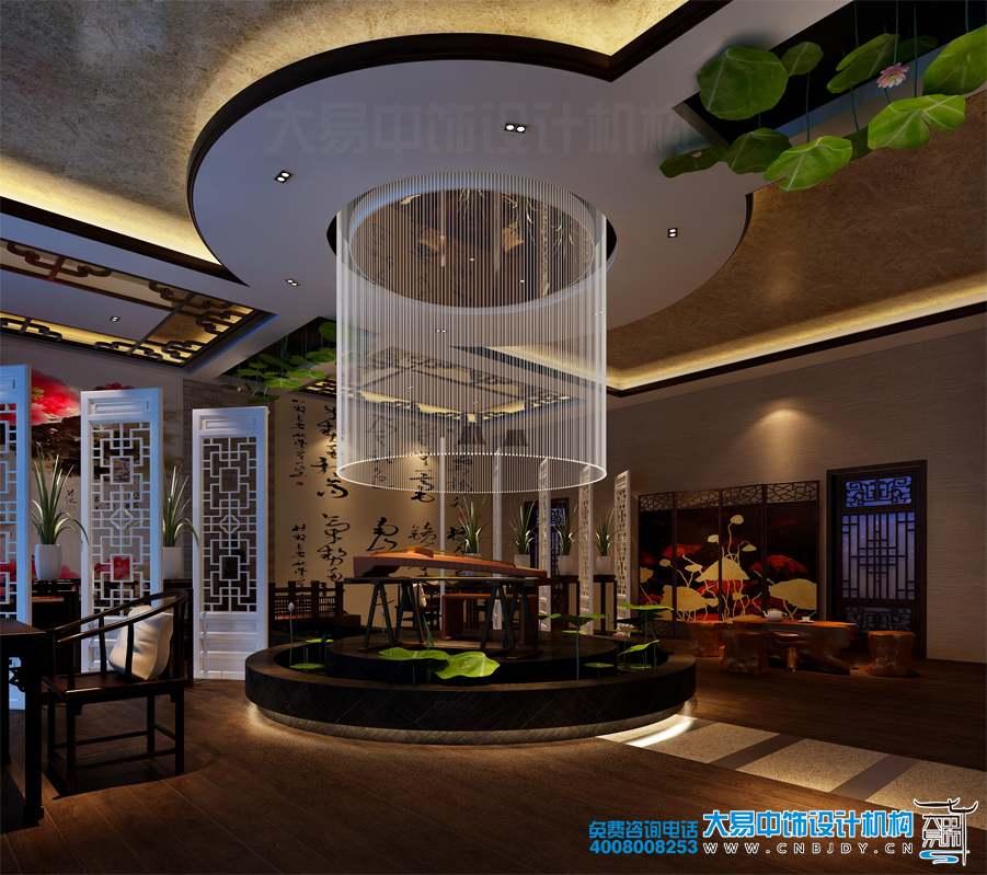 北京现代中式风格餐饮会所装修效果图