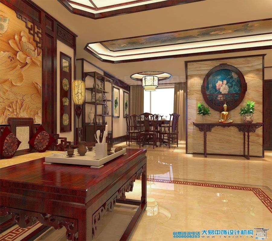 北京中式风格住宅装修效果图