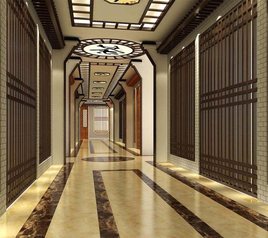 走廊造型效果圖