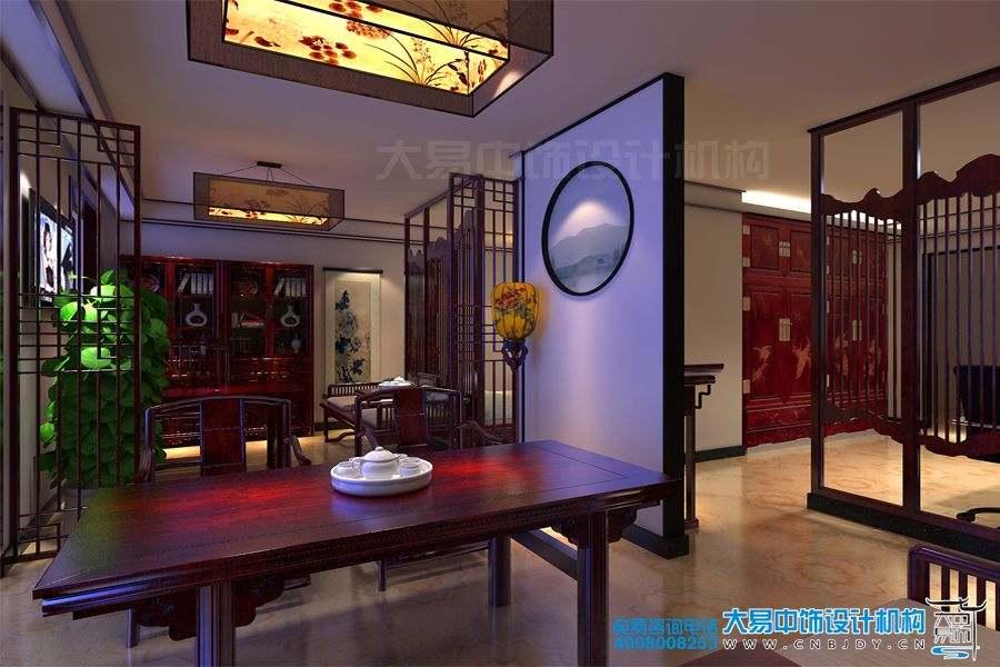 北京崇文门现代中式办公室装修效果图
