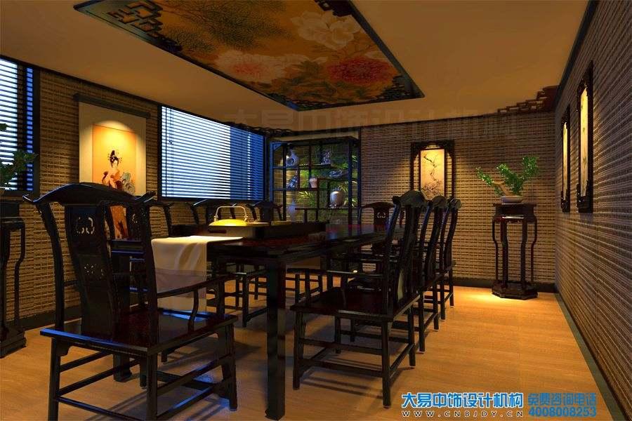 莲花桥新中式茶楼装修效果图,感受灵动的诗意。