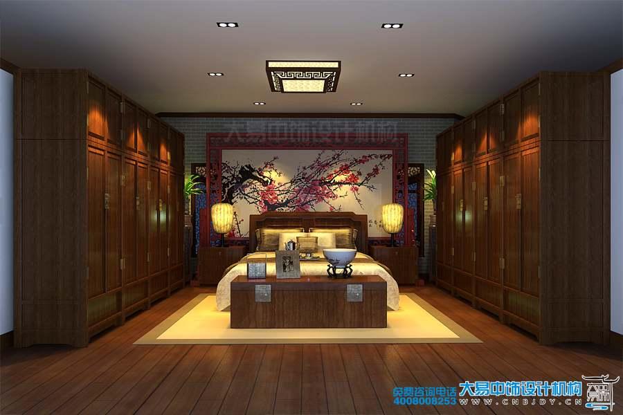 中式风格红木家具展厅设计效果图