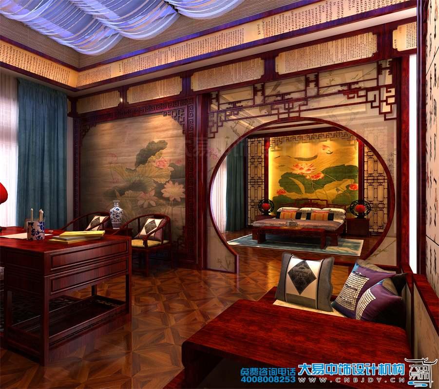山东潍坊500平米中式设计别墅装修效果图