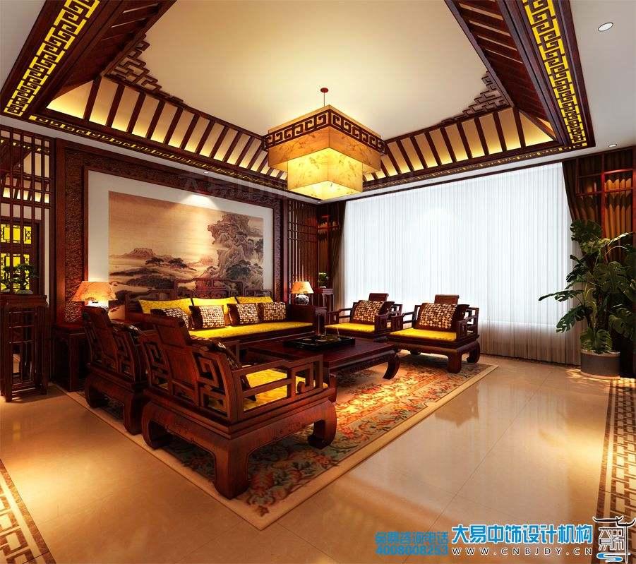 北京私人中式餐饮空间装修效果图