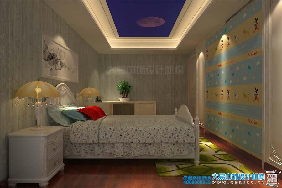 河北邯郸220平米现代中式住宅设计效果图