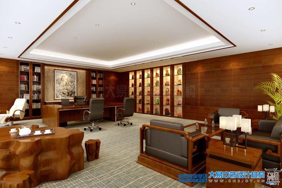 北京南三环现代中式办公室装修效果图