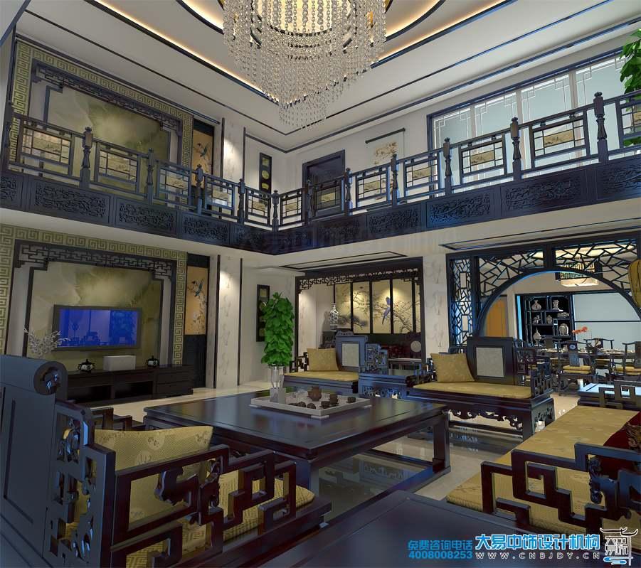 安徽合肥750平米豪宅别墅中式风格装修效果图