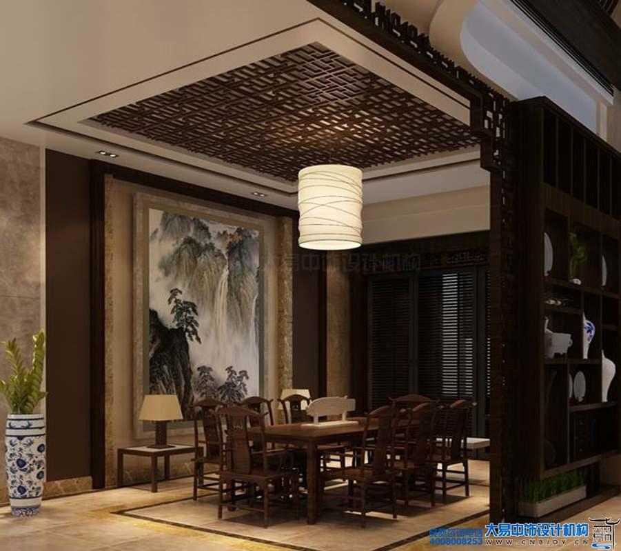 江苏扬州某中式风格会所设计效果图