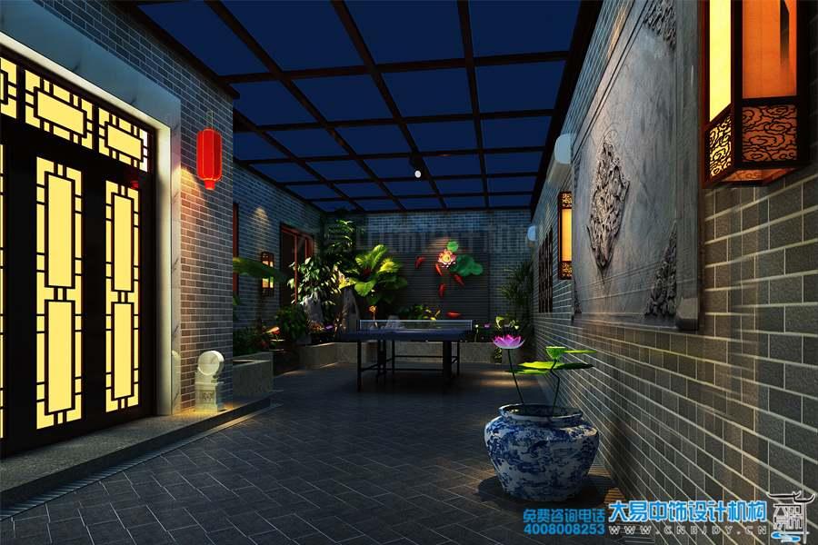 中式住宅小院装修设计效果图