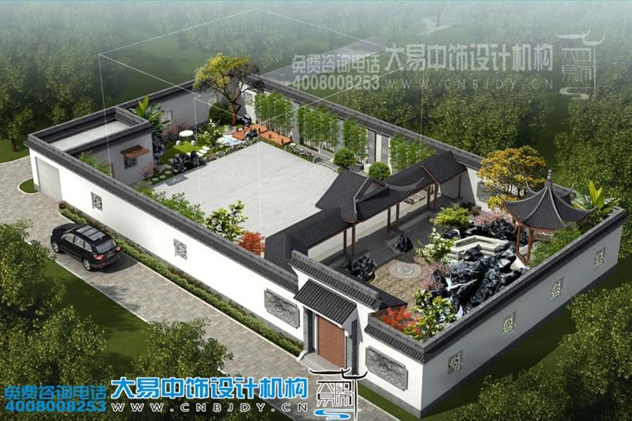 郑州简单中式别墅设计-简约中式元素装修