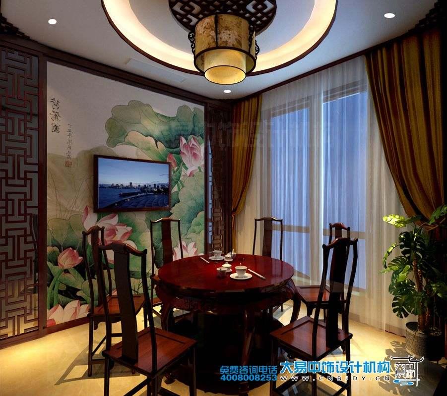 郑州350平米别墅新中式设计装修效果图