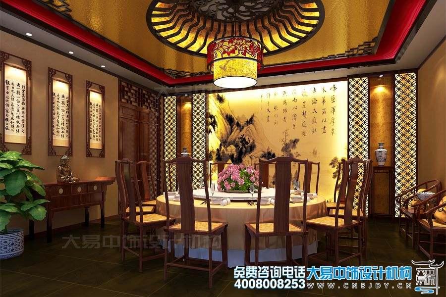 北京通州书画会馆设计效果图及中式装修效果图