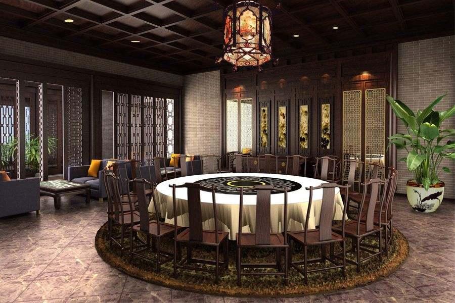 中式餐饮会所设计装修 赴一场低调奢华的盛宴