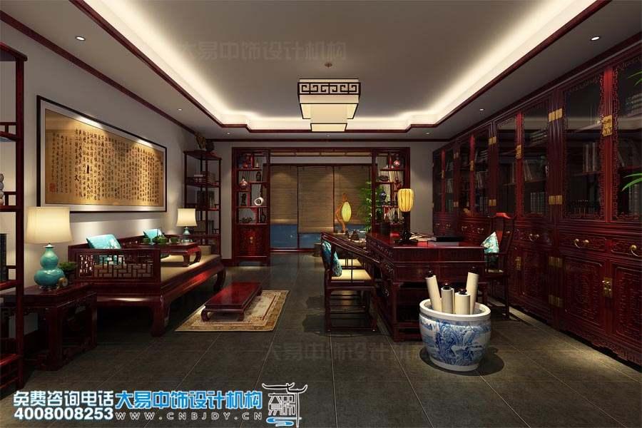 陕西西安曲江别墅最新中式装修设计案例