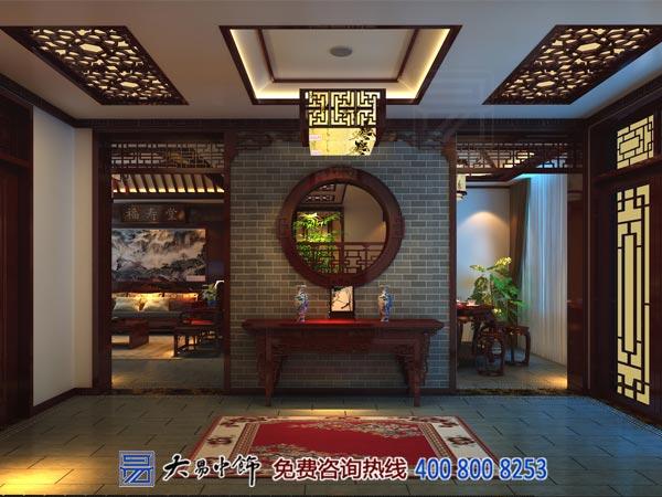 中式室内设计玄关装修效果图
