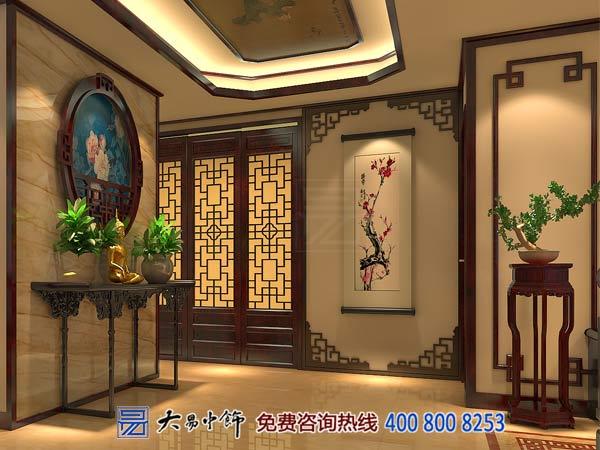 中式玄关装修设计效果图