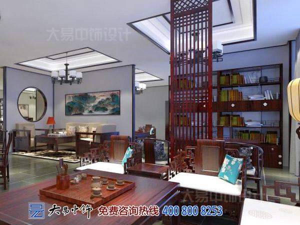 陕西西安红木展厅中式装修 古城墙下的传统中式设计魅力