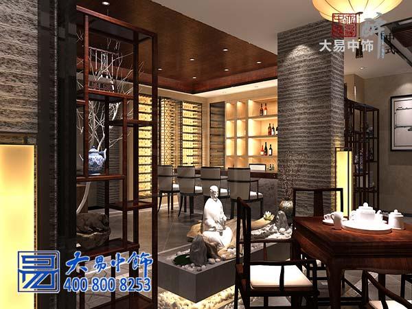 北京私人新中式茶会所装修设计 富有层次的立体化会友空间