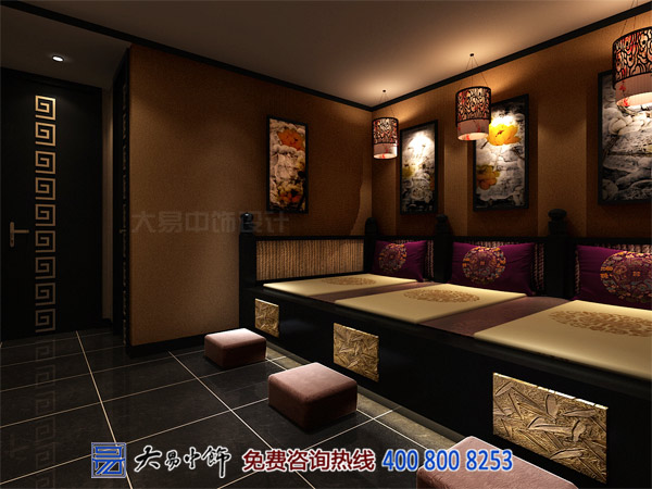 中式酒店装修最突出的对比色彩黑与白