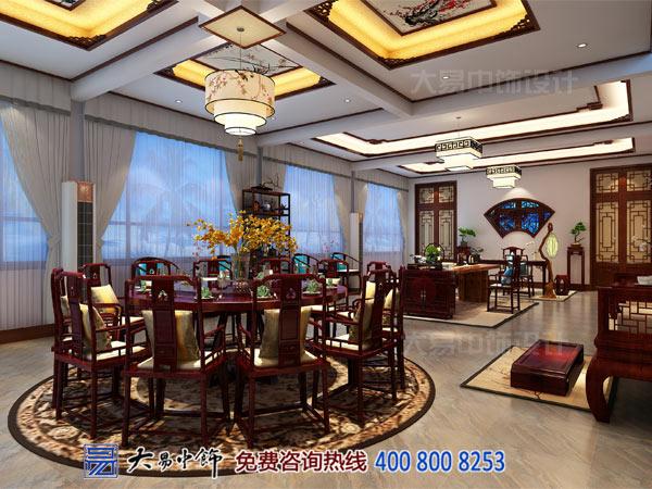 北京怀柔画友会馆中式装修 雁栖湖畔的清雅名居