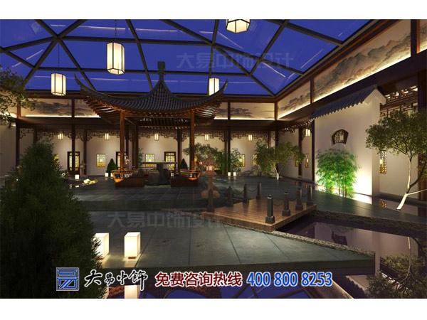 中式四合院茶室装修设计 觅清幽之境享茶墨之韵