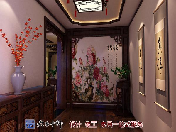 辽宁盘锦220平米别墅设计,感受中式别墅装修的气息
