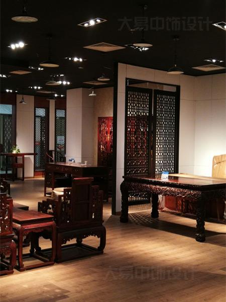 北京中式风格红木家具展厅装修设计高贵大气