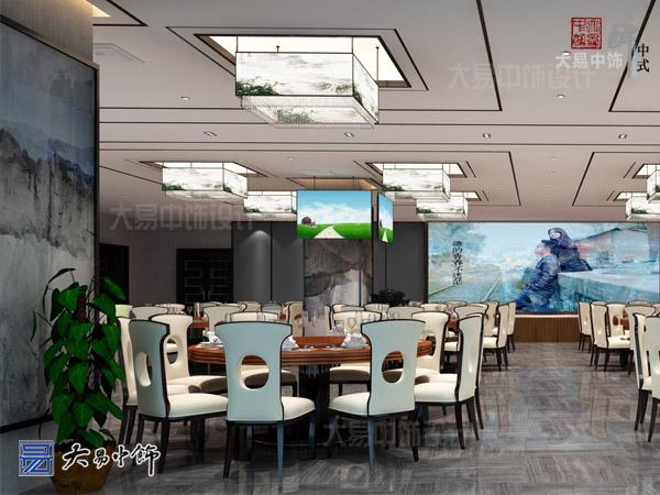 餐厅新中式设计清新舒雅的装修效果