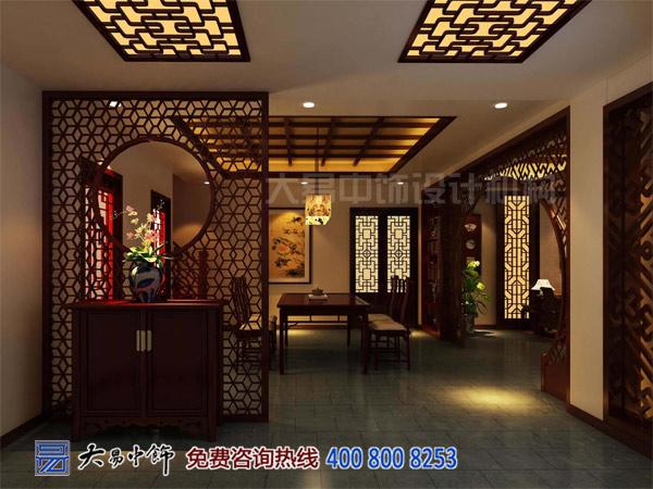玄关中式设计室内效果图-玄关设计中式装修图片