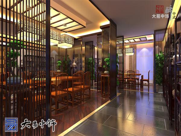 河北张家口茶馆装修 古韵幽香的茶楼中式设计