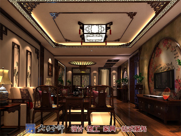 中式装饰客厅沙发怎么摆放好?