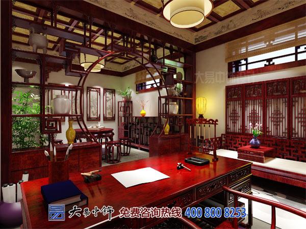 书房中式设计之装饰家具书桌的尺寸要求