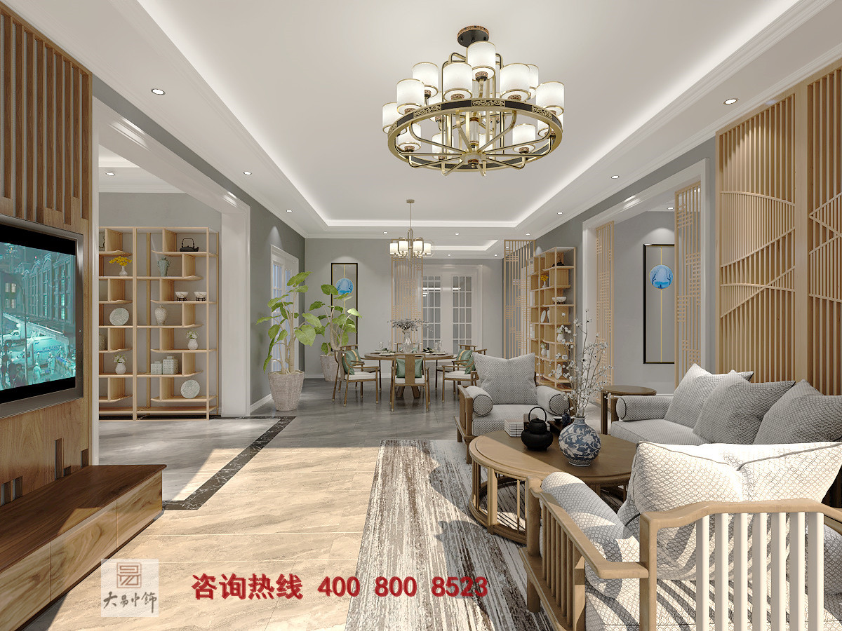 2021年新中式客厅效果图一览