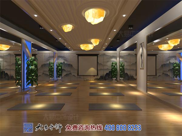 北京五棵松禅意中式设计 瑜伽会所中式装修古色空灵