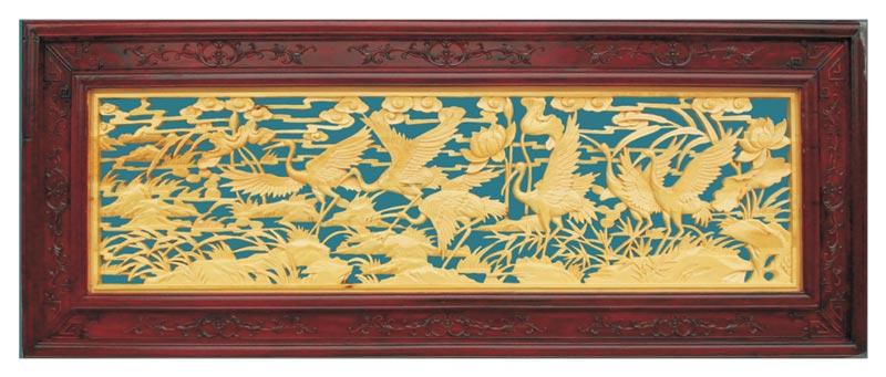 定制精品中式装饰风格木雕样式图G-222